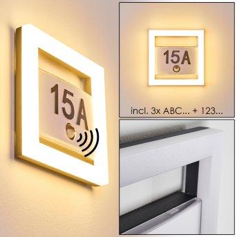 Lampada per numero civico Louisville LED Grigio, 1-Luce, Sensori di movimento
