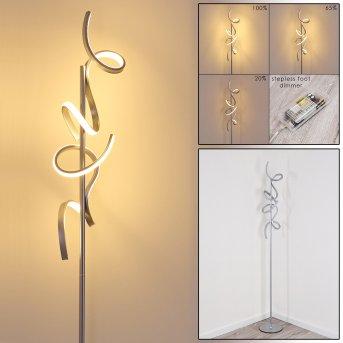 Lavaca Lampada da terra LED Argento, 2-Luci
