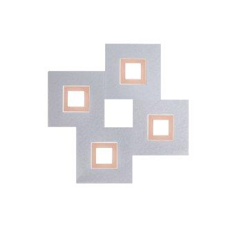 Grossmann KARREE Applique e plafoniera LED Alluminio, Ramato, 4-Luci
