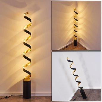 Rezat Lampada da terra LED Nero-Oro, 1-Luce