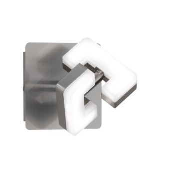 Wofi ZARA Applique LED Nichel opaco, 1-Luce