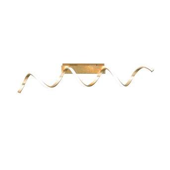 Wofi RUSSELL Plafoniera LED Oro, 1-Luce