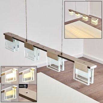 Aadorf Lampada a Sospensione LED Nichel opaco, 4-Luci