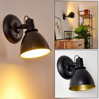Applique Koppom Nero, 1-Luce