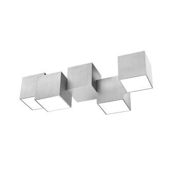 Grossmann ROCKS Plafoniera LED Alluminio, 4-Luci