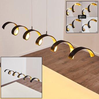 Rezat Lampada a Sospensione LED Nero-Oro, 1-Luce