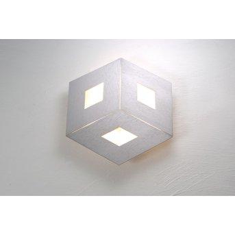 Bopp-Leuchten BOX COMFORT Plafoniera LED Argento, 3-Luci