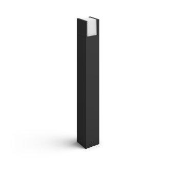 Philips Hue White Fuzo Lampioncino Segnapasso LED Nero, 1-Luce