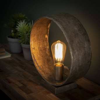 GORREDIJK Lampada da Tavolo Ruggine, 1-Luce