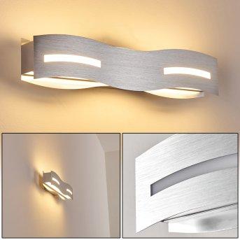 Nagold Applique LED Nichel opaco, Cromo, 1-Luce