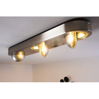 Granada Plafoniera LED Nichel opaco, 3-Luci