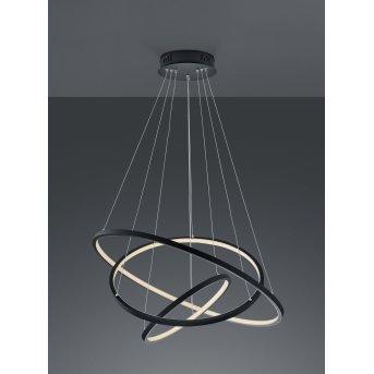 Trio Aaron Lampada a Sospensione LED Antracite, 1-Luce, Telecomando, Cambia colore