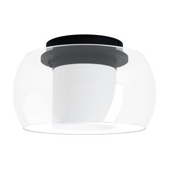 Eglo BRIAGLIA Plafoniera LED Nero, 1-Luce, Cambia colore