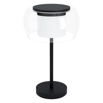 Eglo BRIAGLIA Lampada da tavolo LED Nero, 1-Luce, Cambia colore