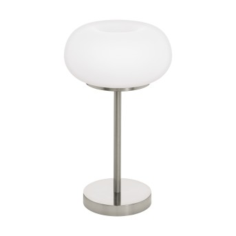 Eglo OPTICA Lampada da tavolo LED Nichel opaco, 1-Luce, Cambia colore