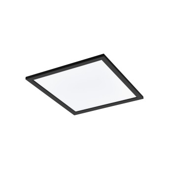 Eglo SALOBRENA Plafoniera LED Nero, 1-Luce, Cambia colore