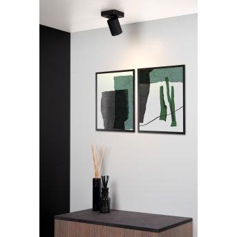 Lucide NIGEL Faretto da soffitto LED Nero, 1-Luce
