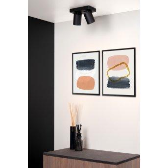 Lucide NIGEL Faretto da soffitto LED Nero, 2-Luci