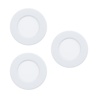 Eglo FUEVA Lampada da incasso LED Bianco, 3-Luci