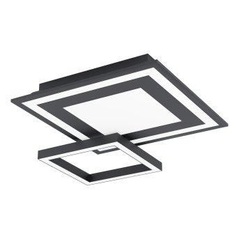 Eglo SAVATARILA Plafoniera LED Nero, 1-Luce, Cambia colore
