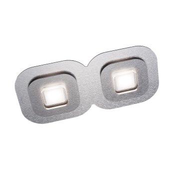 Grossmann AP Plafoniera LED Grigio, Alluminio, 2-Luci