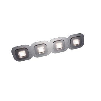 Grossmann AP Plafoniera LED Grigio, Alluminio, 4-Luci