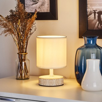 Kigombo Lampada da tavolo Bianco, Crema, 1-Luce