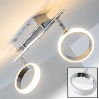 Dobris Faretto da soffitto LED Cromo, 2-Luci