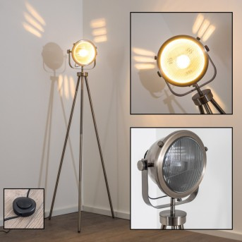 Lambton lampada da terra Argento, Marrone scuro, 1-Luce