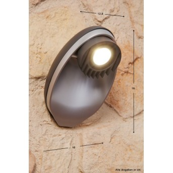Lutec EGGO Applique per esterno LED Antracite, 3-Luci
