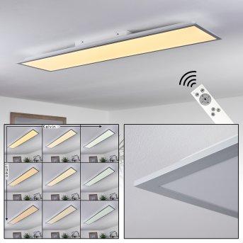 Nexo Plafoniera LED Bianco, 1-Luce, Telecomando
