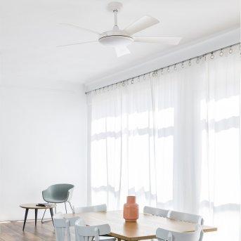 Faro Barcelona Saona ventilatore da soffitto LED Bianco, 1-Luce, Telecomando
