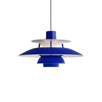 Louis Poulsen PH5Mini Lampada a Sospensione Bianco, Blu, 1-Luce