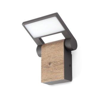 Faro Barcelona Holz Applique da esterno LED Grigio, 1-Luce