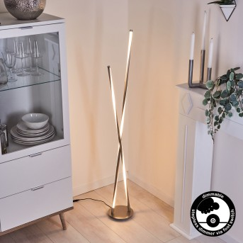 Concord Lampada da terra LED Argento, 1-Luce