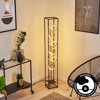 Pericos Lampada da terra LED Nero, 3-Luci