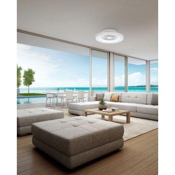 Mantra HIMALAYA ventilatore da soffitto LED Argento, 1-Luce, Telecomando