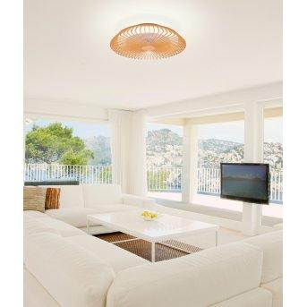Mantra HIMALAYA ventilatore da soffitto LED Legno chiaro, 1-Luce, Telecomando