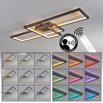 Momahaki Plafoniera LED Antracite, 1-Luce, Telecomando