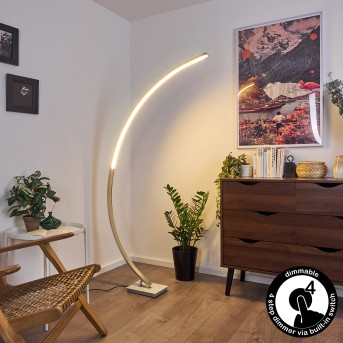 Uttorp Lampada da terra LED Argento, 1-Luce