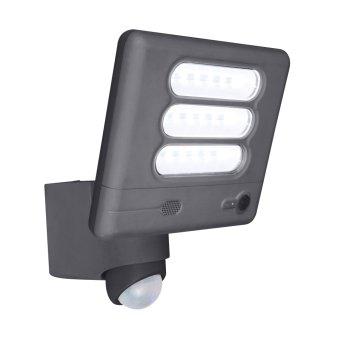 Applique da esterno Lutec ESA CAM LED Antracite, 1-Luce, Sensori di movimento