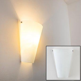 Zera Applique Alluminio, Bianco, 1-Luce