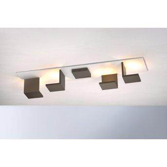 Bopp-Leuchten REFLECTIONS Plafoniera LED Bianco, Bronzo, 4-Luci