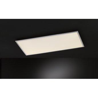 Wofi MILO Plafoniera LED Argento, 1-Luce, Telecomando, Cambia colore