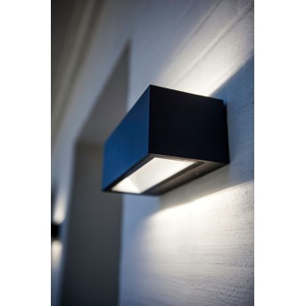 Lutec GEMINI Applique da esterno LED Nero, 2-Luci