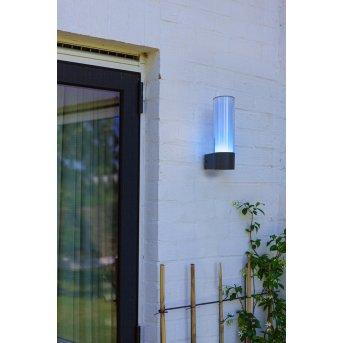 Lutec DROPA Applique da esterno LED Antracite, 1-Luce, Cambia colore
