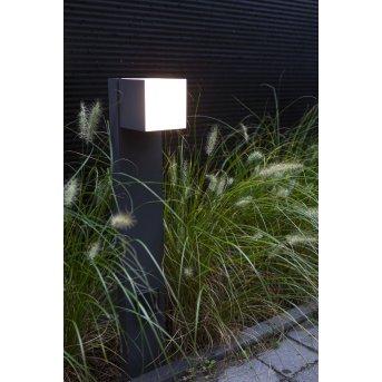 Lutec CUBA Lampioncino Segnapasso LED Antracite, 1-Luce
