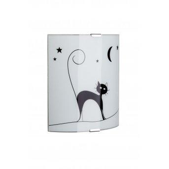 Brilliant Cat Applique Bianco, 1-Luce