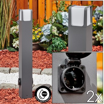 Lysabbel Lampioncino Segnapasso LED Antracite, 1-Luce