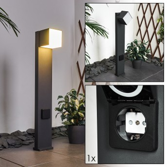 Swanek Lampioncino Segnapasso LED Nero, 1-Luce